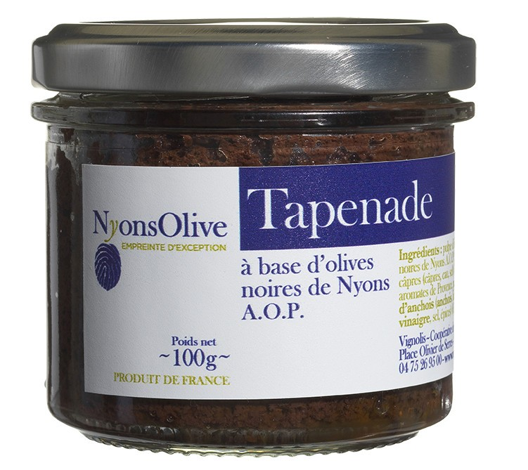 Schwarze Oliven-Tapenade Nyons