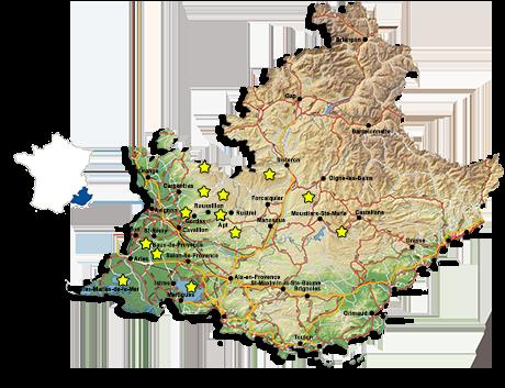 frankreich landkarte provence Provence entdecken | Informationen   Reiseangebote   Unterkünfte